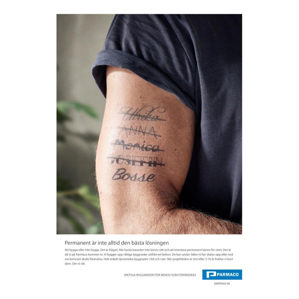 ÖPPET Conceptual advertising for Parmaco
